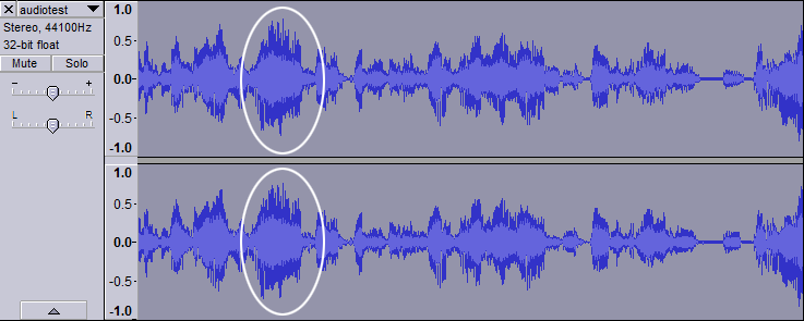 Audio with normal phases