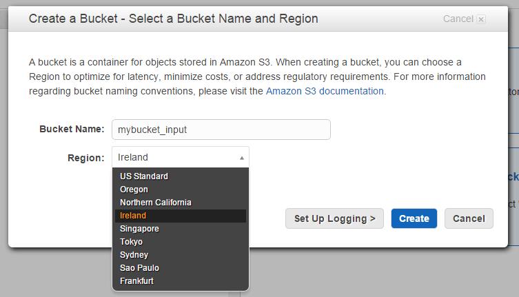 Bucket region