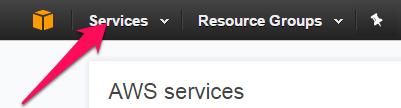 Select AWS service