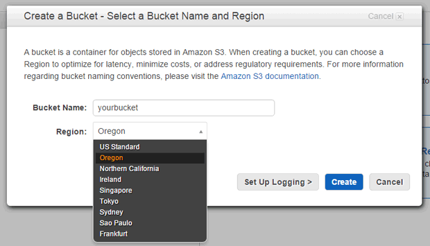 Select a region