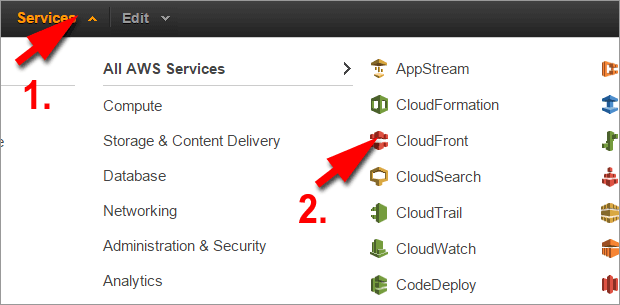 Select CloudFront