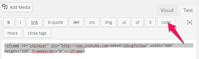 Embed YouTube in WordPress