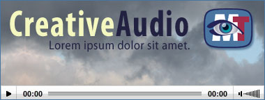 Embedding an audio with poster image, watermark and