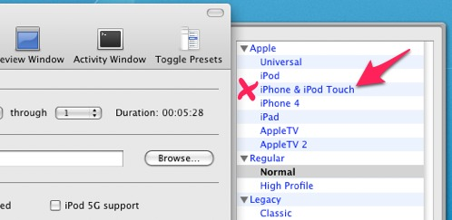 How to encode a video simultaneously for web, iPhone, iPad, iPod