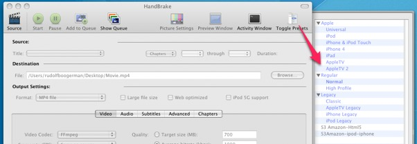 How to encode a video simultaneously for web, iPhone, iPad