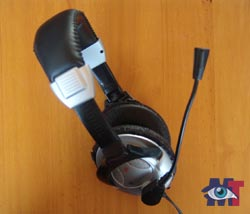 Headset with attached microphone