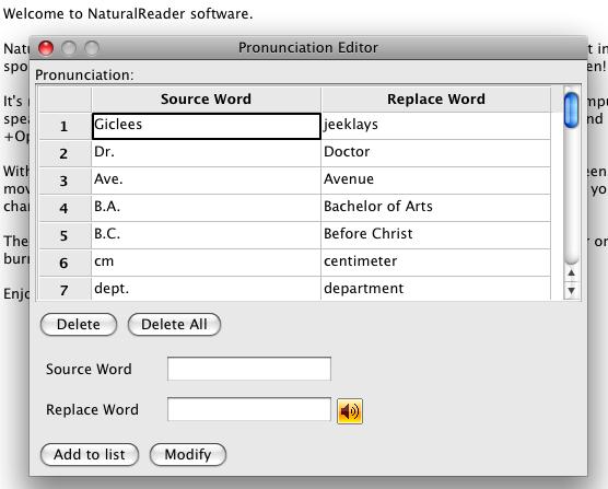 naturalreader pronunciation editor