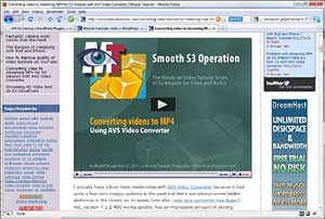 Video within page