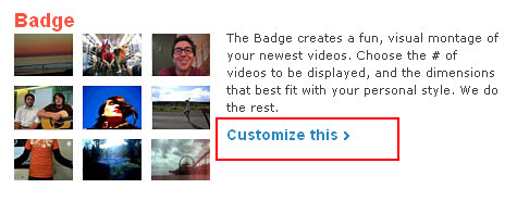 Customize the Badge widget