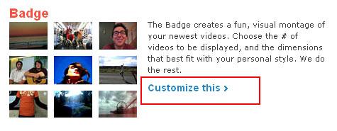 Customize the Badge widget