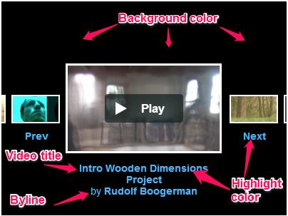 Vimeo hubnut options