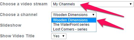 Vimeo select channels
