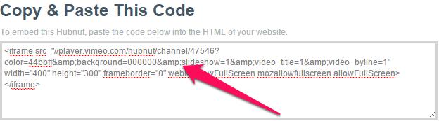 Vimeo hubnut embed code
