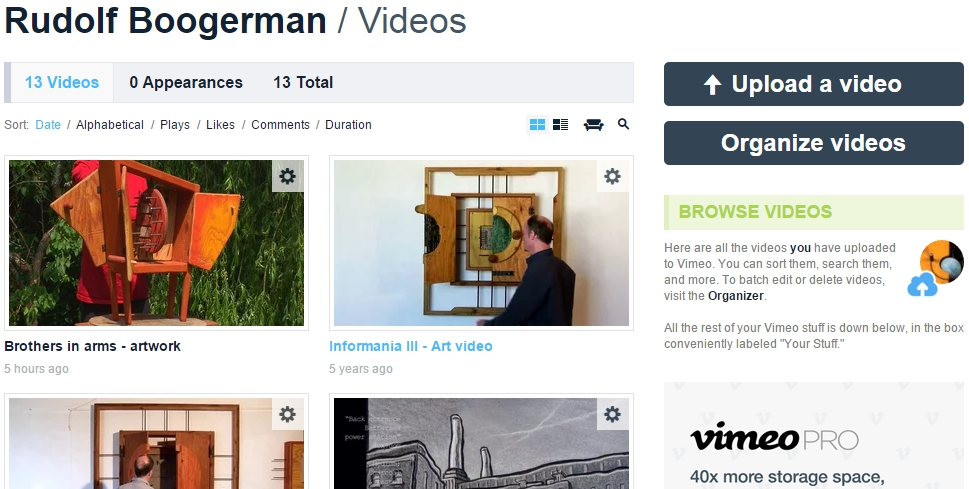 vimeo-interface